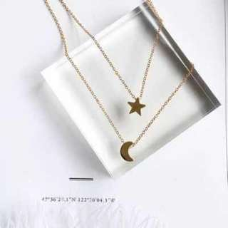 Star.Moon necklace