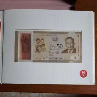SG50 Commemorative $50 Fifty Dollars Note (Rare & Limited)