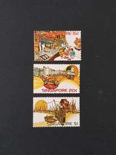 Singapore Stamp. 1975 Singapore Series (mint hinged).
