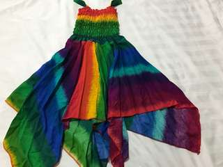 Instock 3days promo!!  Rainbow dress brand new size 1-7yrs old