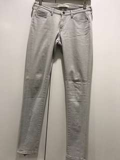 Light Grey; lightweight denim; low waist