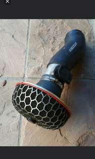Original Hks open pod air intake and perrin hose.  With maf adaptor.