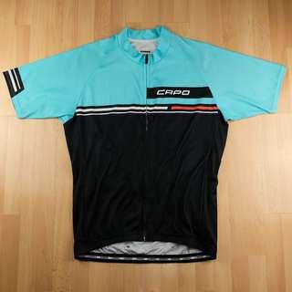 Capo Men's Fondo Short Sleeve Cycling Jersey - Light Cyan