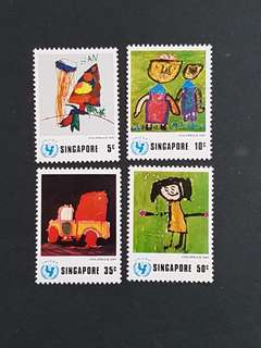Singapore Stamp. 1974 UNICEF (mint hinged).