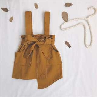 👧🏻(PO) Fake Suspender Skirt for Baby Girl Toddler