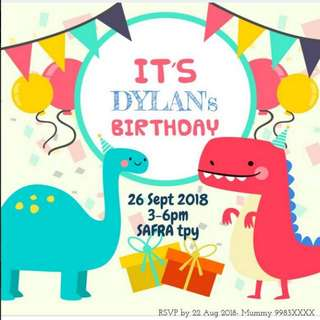 Birthday Party Invitation Design