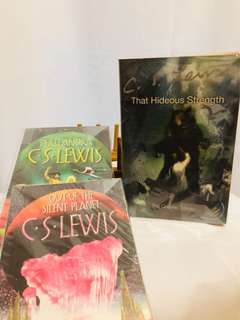 C.S Lewis science fiction fantasy trilogy Out of Silent Planet, Perelandra, Hideous strength