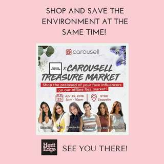 50%-70% OFF! ❤️1 DAY SALE AT CAROUSELL'S TREASURE MARKET THIS WEDNESDAY! 😊