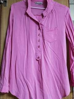 🚚 桃紅色軟質襯衫