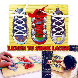 LEARN TO TIE SHOE LACES