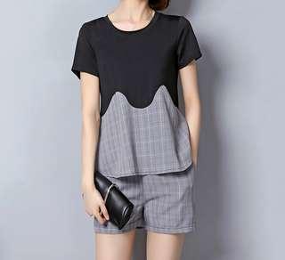 (L - 5XL) Plus Size 2pc Blouse and Shorts