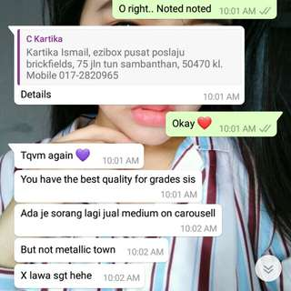 Testimoni from our cust ❤