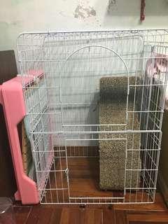 🚚 寵物中型大籠子含跳板