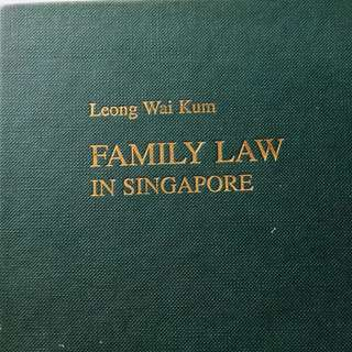Family Law in Singapore  v.1994