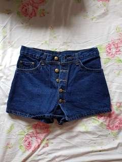 Buttoned Denim Skirtpant