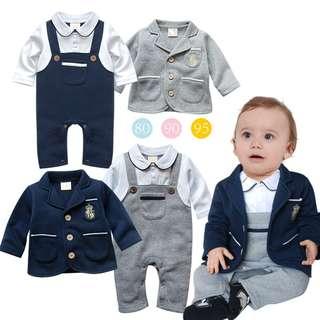 2 piece Gentleman Bodysuit with Outerwear