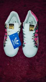 Adidas Superstar Shoes Floral Pink