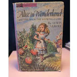 Vintage Alice in Wonderland & Through the Looking Glass Hardcover