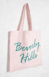 F21 Beverly Hills Canvas Tote Bag