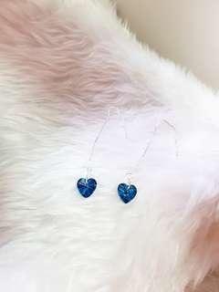 Swarovski elements crystal heart earring