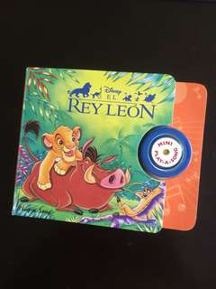 Spanish Children Board Book with Play Tune - Disney's Lion King