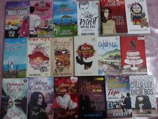 Preloved novel untuk dijual.  18 buah RM150
