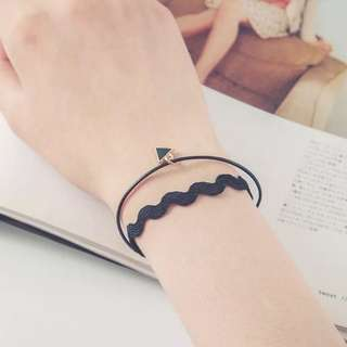 Black triangle bracelet