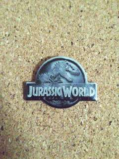 Jurassic world pin badge