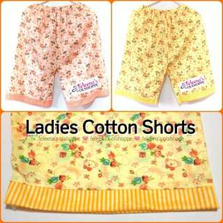Ladies Cotton Floral Shorts