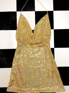 Authentic O'mighty Glittoris Gold Dress