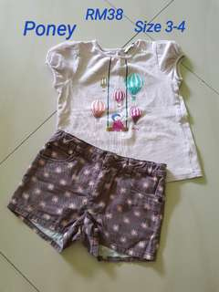 Poney Set ,size 3-4
