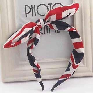 British flag hairband