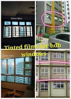 Tinted films for new bto window