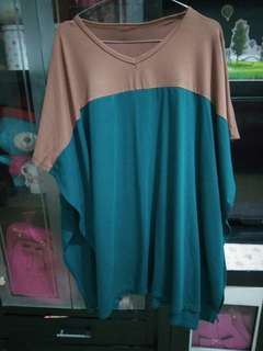 loose blouse choco tosca spandek rayon outer