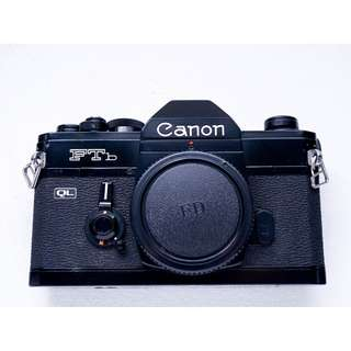 Canon FTb black SLR film camera