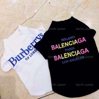 Balenciaga Burberry pet T-shirt