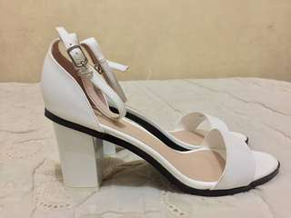 Chunky ankle strap heeled sandals