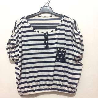 Forever 21 strip blouse