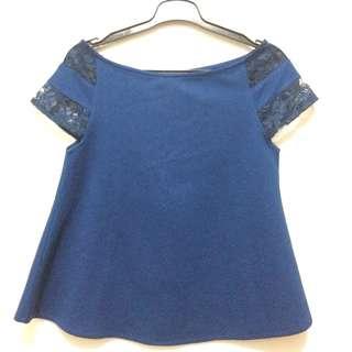 Sabrina dongker blouse