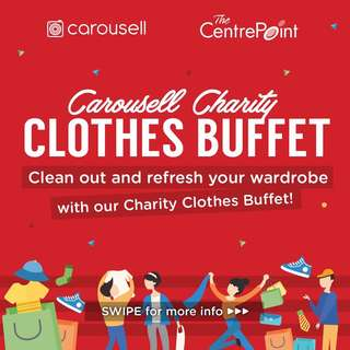 Carousell Charity Clothes Buffet! 👗👕