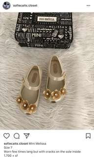Mini Melissa swarovski shoes