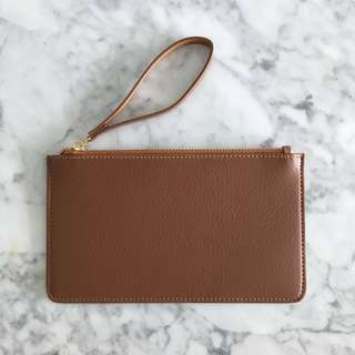 Brown Leather Pouch Flat