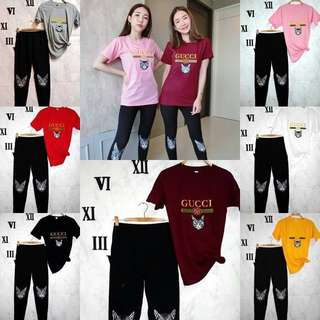 Style Gucci tee and pants; f@