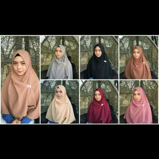 Khimar aisyah (1 layer)