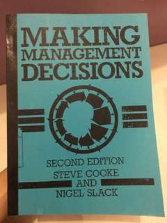 Making Management Decisions 2