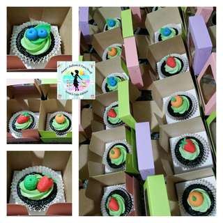 20 Pieces Tutti Frutti Cupcakes in Giveaway Boxes for Kiddie Party
