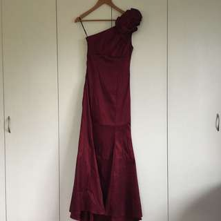 [EVERYTHING MUST GO SALE!] Burgundy Mermaid Long Gown