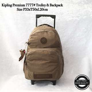 Tas Trolley Backpack Kipling Premium Import 7777 - 13