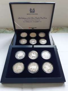 The Collection of $10 Silver Piedfort Proof Coins (1993-2004).