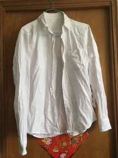 白色恤衫 麻質